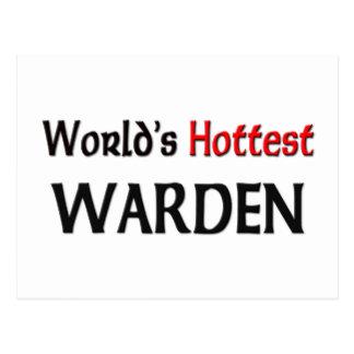 World's Hottest Warden Postcard