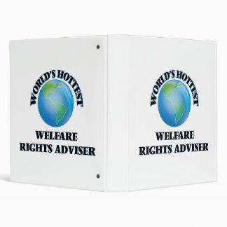 World's Hottest Welfare Rights Adviser 3 Ring Binder