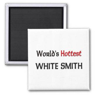 World's Hottest White Smith Refrigerator Magnets