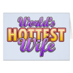 World's Hottest Wife Greeting Cards