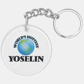 World's Hottest Yoselin Double-Sided Round Acrylic Keychain
