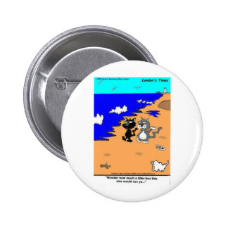 World's Largest Litter Box Funny Gifts & Tees Pinback Button