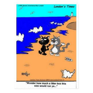 World's Largest Litter Box Funny Gifts & Tees Postcard
