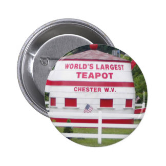 World's Largest Teapot 2 Inch Round Button