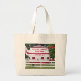 World's Largest Teapot Jumbo Tote Bag