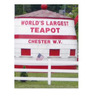 World's Largest Teapot Postcard