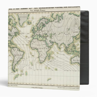 World's magnetic declination 3 ring binder