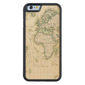 World's magnetic declination carved® maple iPhone 6 bumper