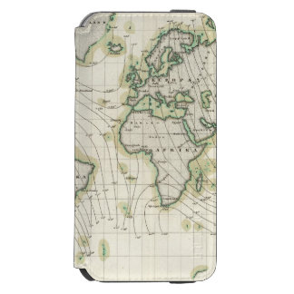 World's magnetic declination iPhone 6/6s wallet case