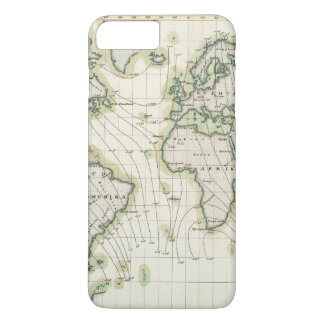 World's magnetic declination iPhone 7 plus case