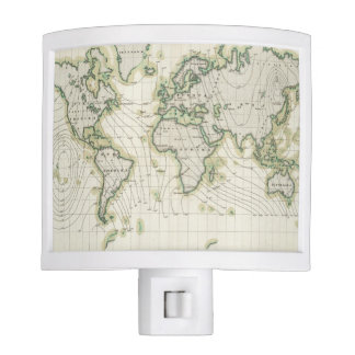 World's magnetic declination night light