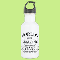 World's Most Amazing 20 Year Old. Water Bottle