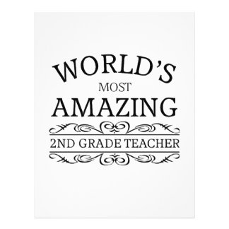 World's most amazing 2nd grade teacher letterhead