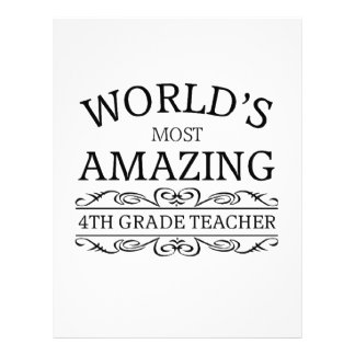 World's Most amazing 4th grade teacher Letterhead