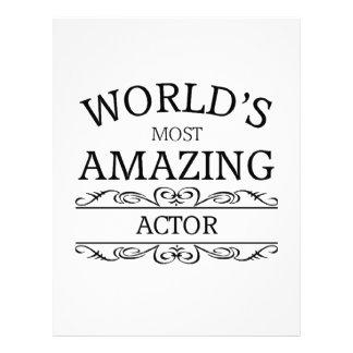 World's most amazing actor letterhead