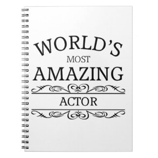 World's most amazing actor notebook