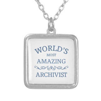 World's most amazing Archivist Silver Plated Necklace