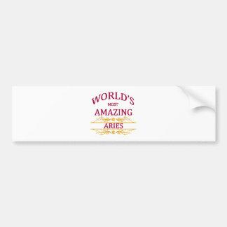 World's Most Amazing Aries Bumper Sticker