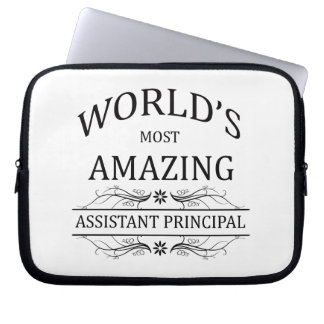 World's Most Amazing Assistant Principal Laptop Sleeve