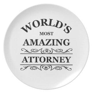 World's most amazing Attorney Dinner Plates