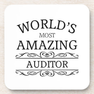 World's most amazing Auditor Drink Coaster