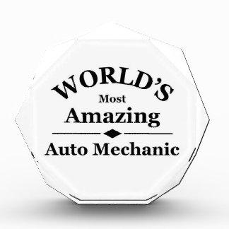 World's most amazing Auto Mechanic Acrylic Award