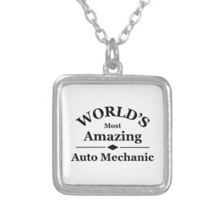 World's most amazing Auto Mechanic Silver Plated Necklace