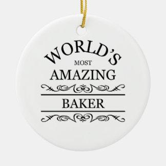 World's most amazing Baker Ceramic Ornament