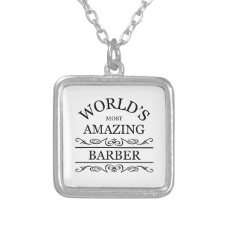 World's most amazing barber silver plated necklace