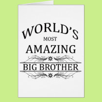 World's Most Amazing Big Brother Card