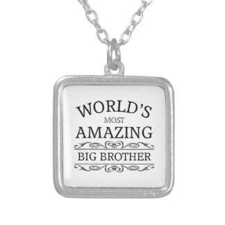 World's most amazing big brother square pendant necklace
