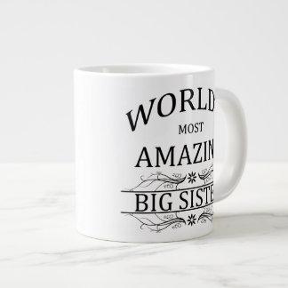 World's Most Amazing Big Sister Large Coffee Mug