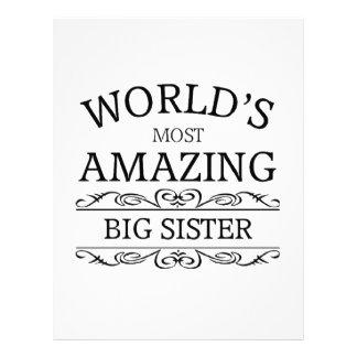 World's most amazing big sister letterhead