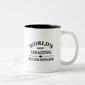 World's most amazing Blues Singer Two-Tone Coffee Mug