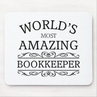 World's most amazing bookkeeper mouse pad