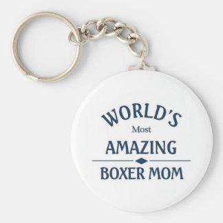 World's most amazing Boxer Mom Basic Round Button Keychain