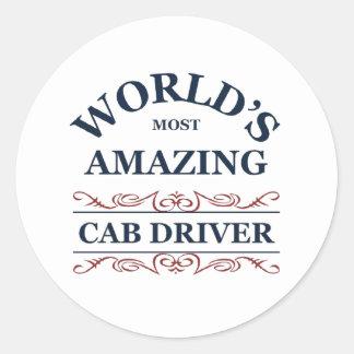 World's most amazing Cab Driver Classic Round Sticker