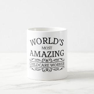 World's most amazing childcare worker coffee mug