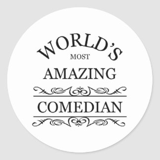 World's most amazing Comedian Classic Round Sticker