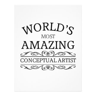World's most amazing conceptual artist letterhead