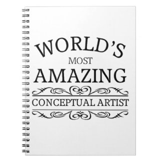 World's most amazing conceptual artist spiral note book