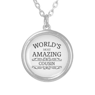 World's most amazing cousin silver plated necklace