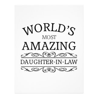 World's most amazing  daughter in law letterhead
