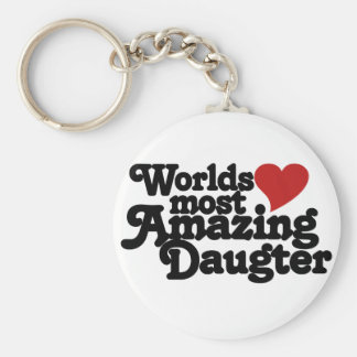 Worlds Most Amazing Daughter Keychain