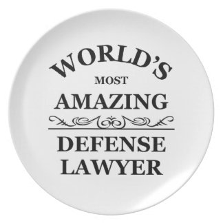 World's most amazing Defense Lawyer Dinner Plate