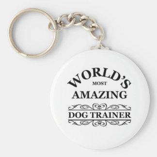 World's most amazing Dog Trainer Basic Round Button Keychain