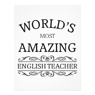 World's most amazing english teacher letterhead
