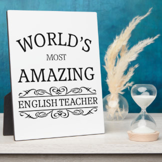World's most amazing english teacher plaque