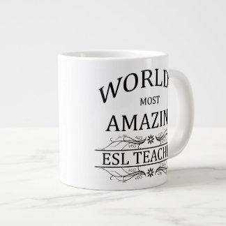 World's Most Amazing ESL Teacher 20 Oz Large Ceramic Coffee Mug