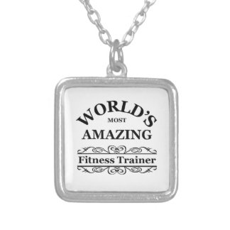 World's most amazing Fitness Trainer Silver Plated Necklace